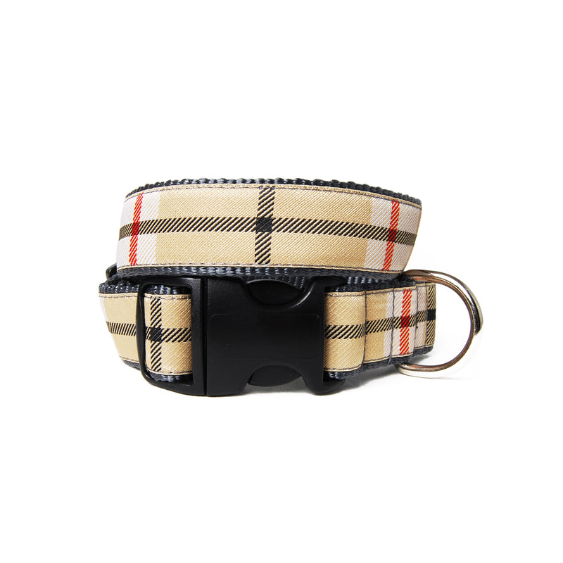 Scotty Plaid Dog Collar