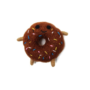Boiled Wool Donut Friend Dog Toy