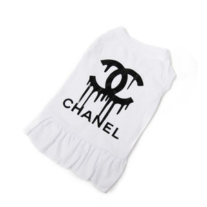 Chanel Drip Dog Dress