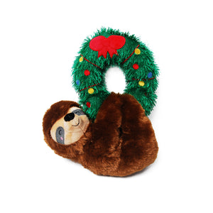 Sloth on a Wreath Plush Dog Toy