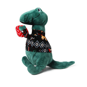 Sweater-saurus Plush Dog Toy
