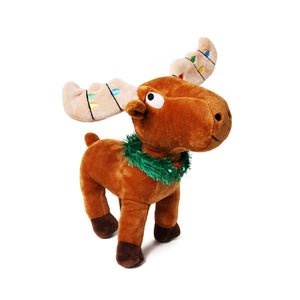 Christmas Moose Plush Dog Toy
