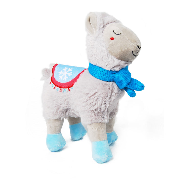Winter Llama Plush Dog Toy