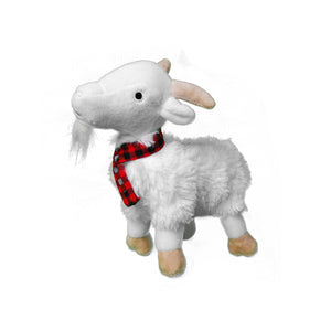 Winter Goat Plush Dog Toy