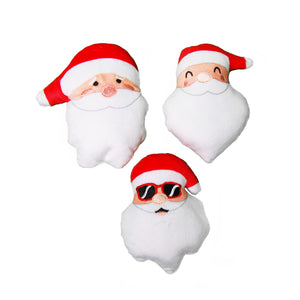 Santa Head Plush Dog Toy
