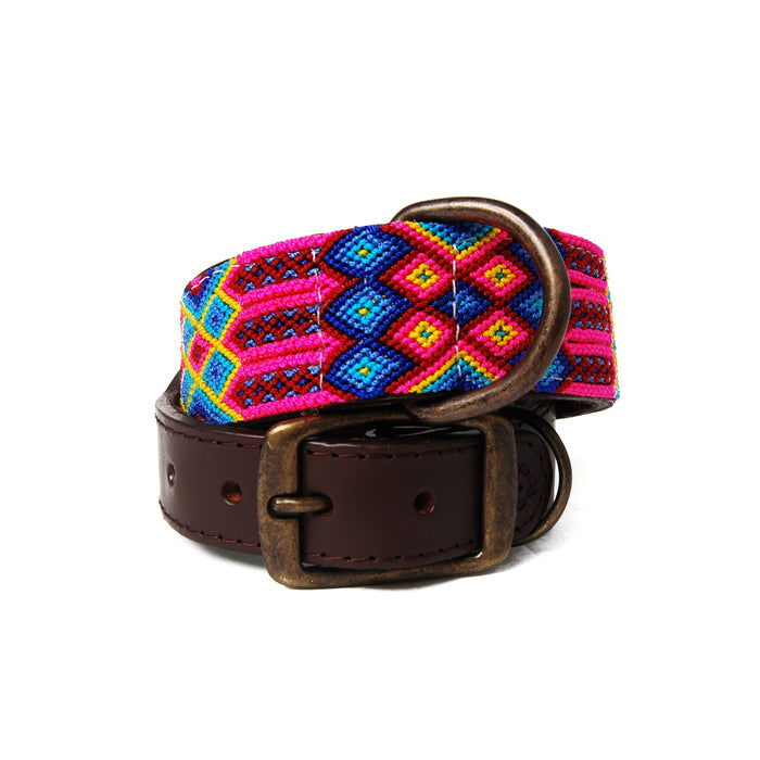 Briza Woven Leather Dog Collar