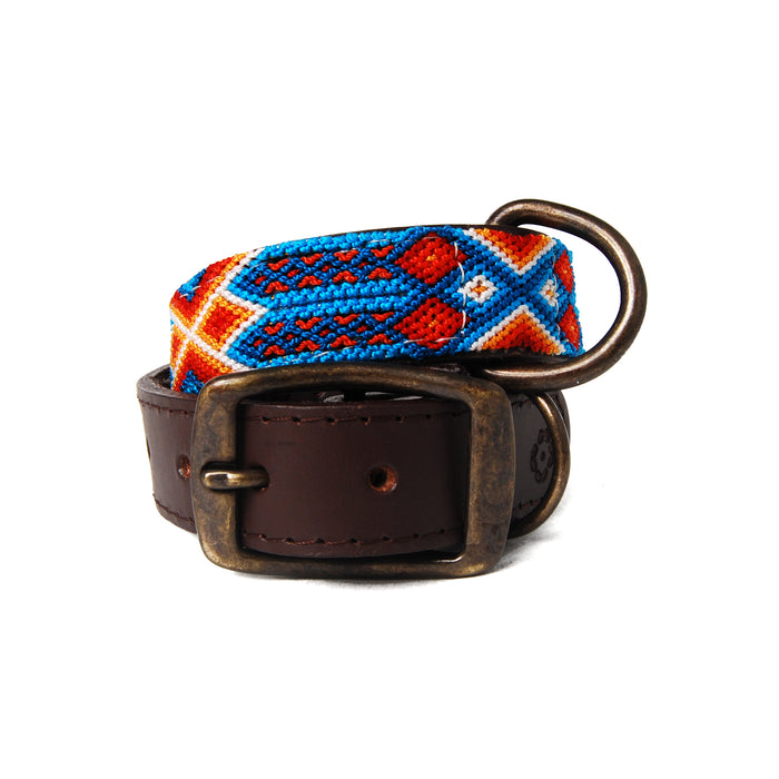 Aurora Woven Leather Dog Collar