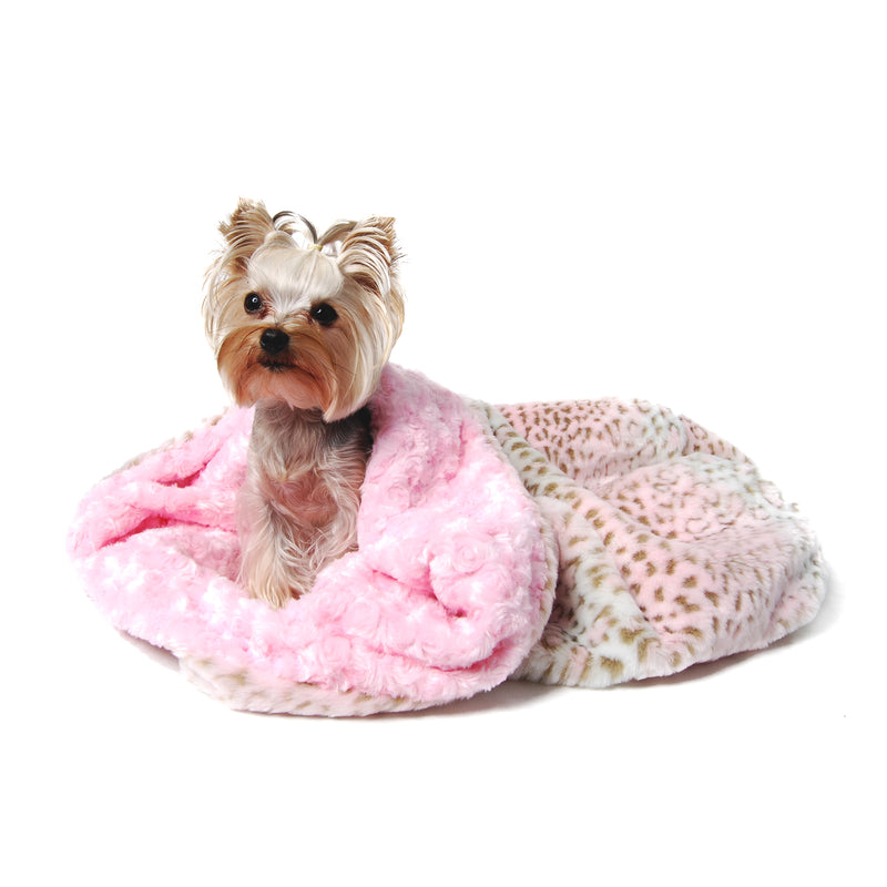 Pink Lynx Cuddle Cup Dog Bed