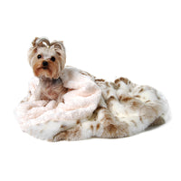 Arctic Snow Cuddle Cup Dog Bed