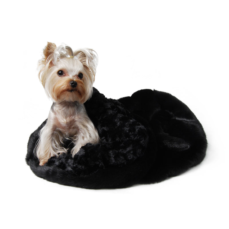 Black Cuddle Cup Dog Bed