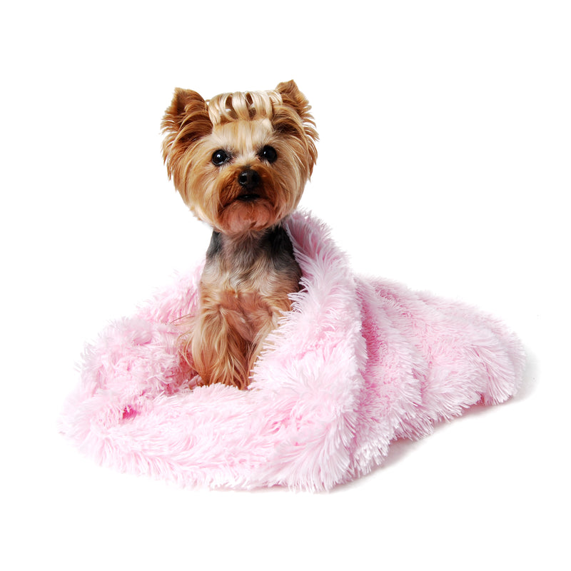 Pink Shag Cuddle Cup Dog Bed