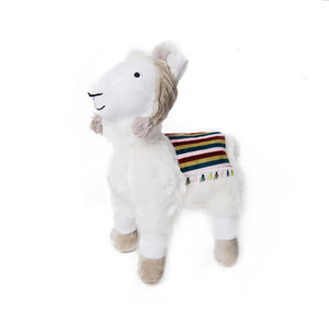 Plush Llama with Beanie Dog Toy