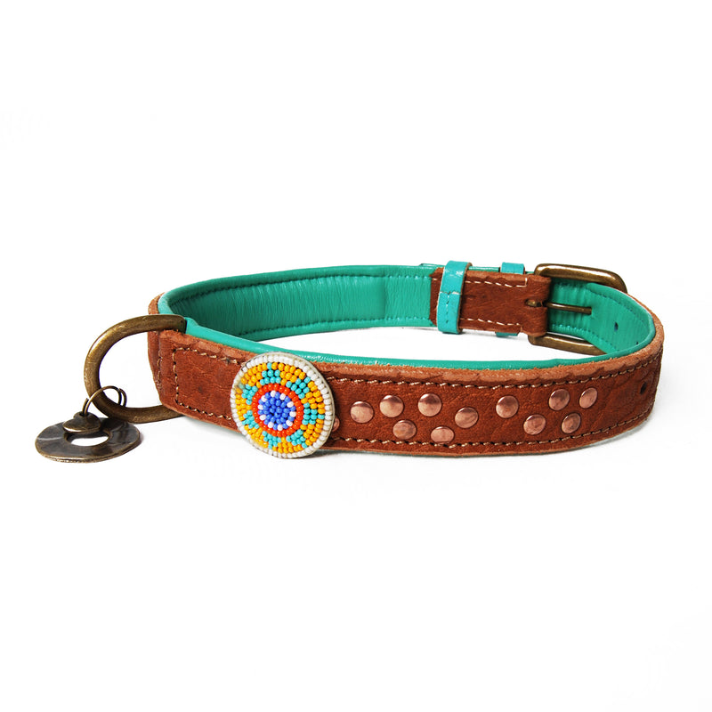 Phoenix Leather Dog Collar - FINAL SALE