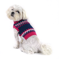 Pink Fair Isle Turtleneck Dog Sweater-FINAL SALE