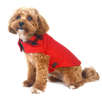 Red Buffalo Reversible Fleece Dog Jacket