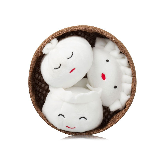 Plush Dim Sum Dumplings Dog Toy