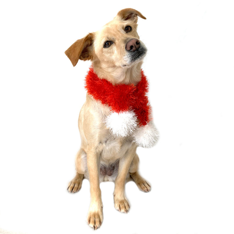 Funky Fur Santa Dog Scarf - FINAL SALE