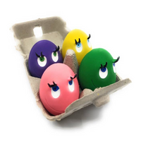 Latex Eggs in Carton Dog Toy