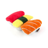Sushi Trio with Hidden Rope Dog Toy