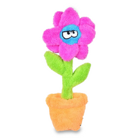 Flower in Pot 'Unstuffed' Dog Toy