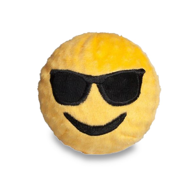 Sunglasses Emoji Plush faball® Dog Toy