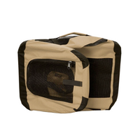 Collapsible Khaki Dog Crate