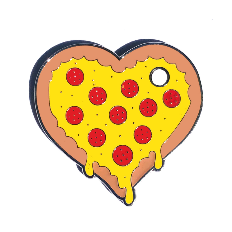 Pizza My Heart Engraved Pet Tag