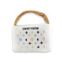 White Chewy Vuitton Monogram Handbag Dog Toy