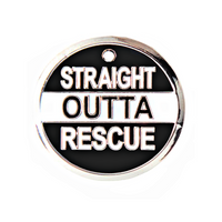 Straight Outta Rescue Engraved Pet Tag