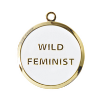 Wild Feminist Engraved Pet Tag