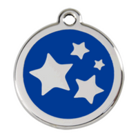 Stainless Steel Engravable Stars Pet Tag