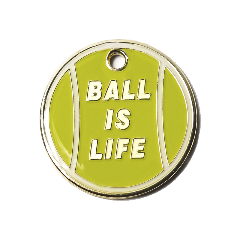 Ball is Life Engraved Pet Tag