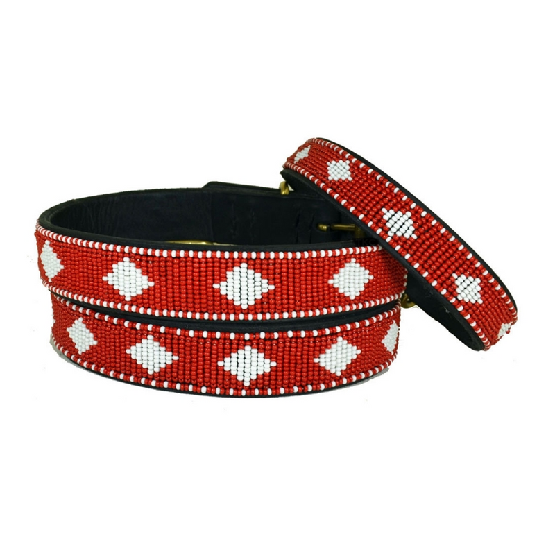 Unity Beaded Diamond Dog Collar