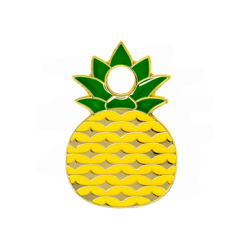 Pineapple Engraved Pet Tag