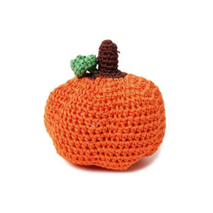 Crocheted Pumpkin Dog Toy