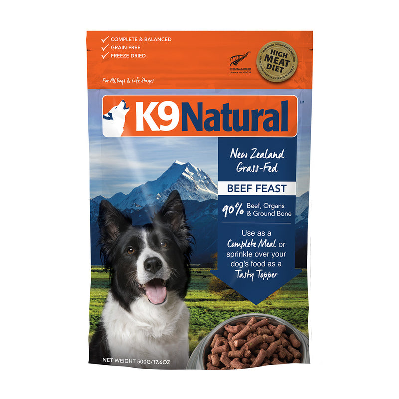 K9 Natural Freeze Dried Beef Feast Dog Food - Muttropolis