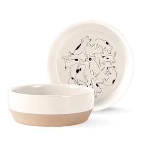 Spot Stoneware Dog Bowl