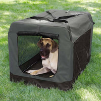 Charcoal Grey Collapsible Pet Crate