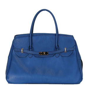 Cobalt Blue Leather Katie Dog Carrier