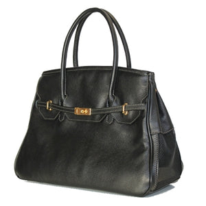 Black Leather Katie Dog Carrier