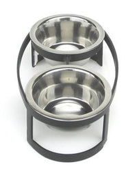 Raindrop Double Diner Small Pet Feeder