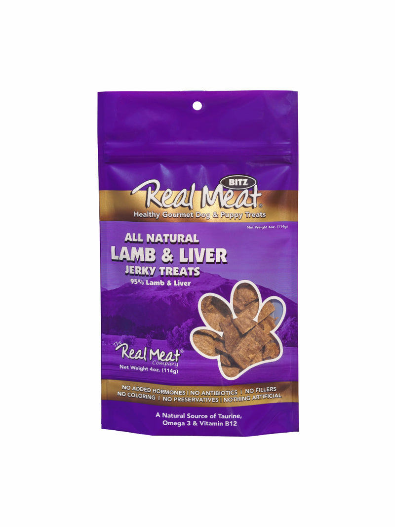 Real Meat Lamb and Liver Jerky Dog Treats
