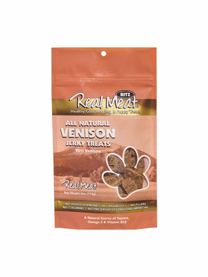 Real Meat Venison Jerky Dog Treats