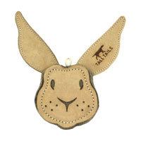 Natural Leather Critter Dog Toy