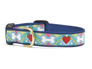 Hearts and Bones Dog Collar