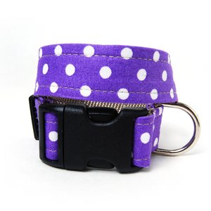 White Polka Dots Dog Collar