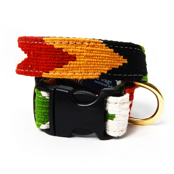 Harvest Chevron Woven Dog Collar
