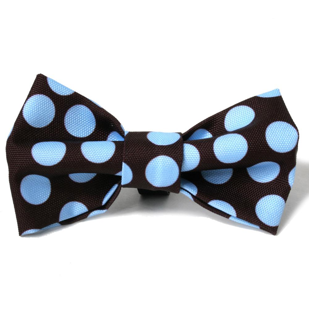 Dots on Brown Dog Bowtie