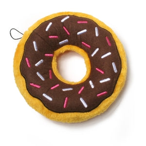 Plush Donut Dog Toy