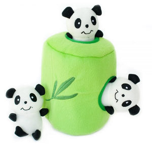 Panda and Bamboo Burrow Dog Toy